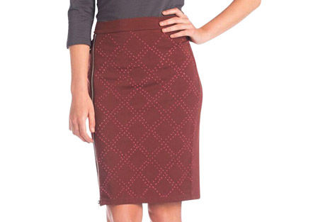 Synergy Quilted Stitch Zippy Skirt - Women's