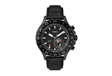 Timex iQ Move Multi-Time Leather Watch