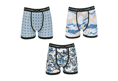 Warriors & Scholars Dupree Boxer Briefs 3 Pack - Men's