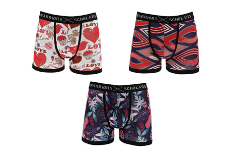 Warriors & Scholars Clara Boxer Brief 3-Pack