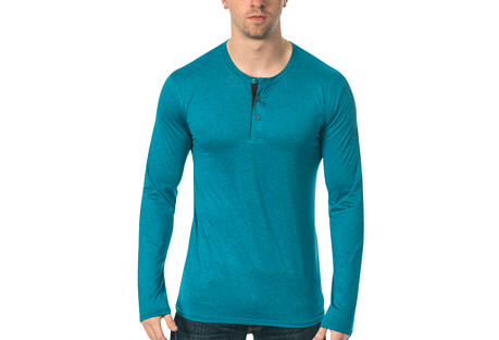 Warriors & Scholars Mako L/S Fitness Tech Henley - Men's