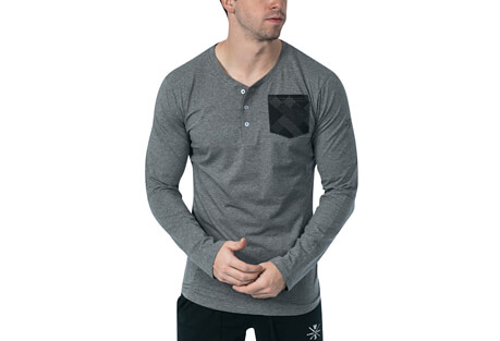 Warriors & Scholars Super Lux L/S Henley - Men's