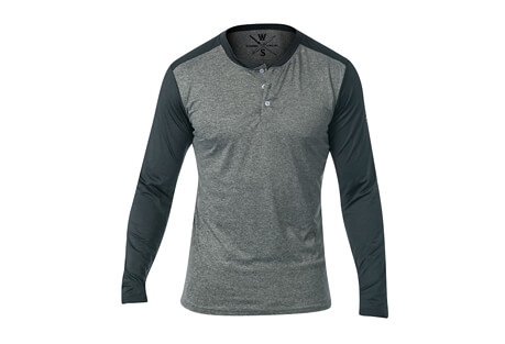 Warriors & Scholars Cara L/S Fitness Tech Henley - Men's