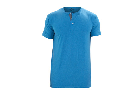 Warriors & Scholars Revolution Short Sleeve Fitness Henley - Men's