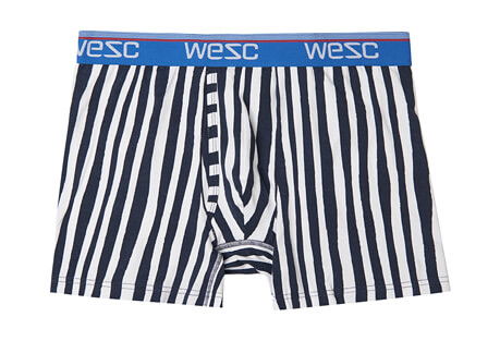 WeSC Benjamin Uneven Stripe Boxer Brief - Men's