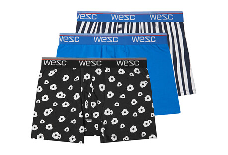 WeSC Benjamin Big Poppy Assorted 3 Pack Boxers - Men's